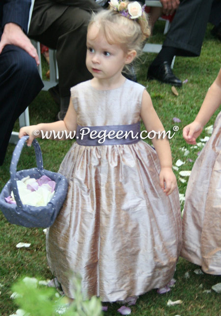 Flower Girl Dresses in Latte and Europeri in Style 398