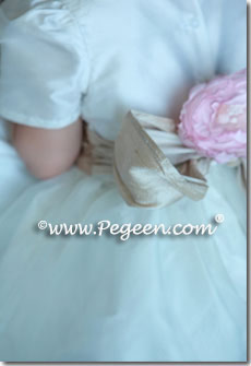 infant and toddler infant flower girl dresses in champagne and ivory