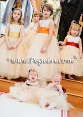 Pegeen Couture Style 402 Degas tulle flower girl dress in multiple colors