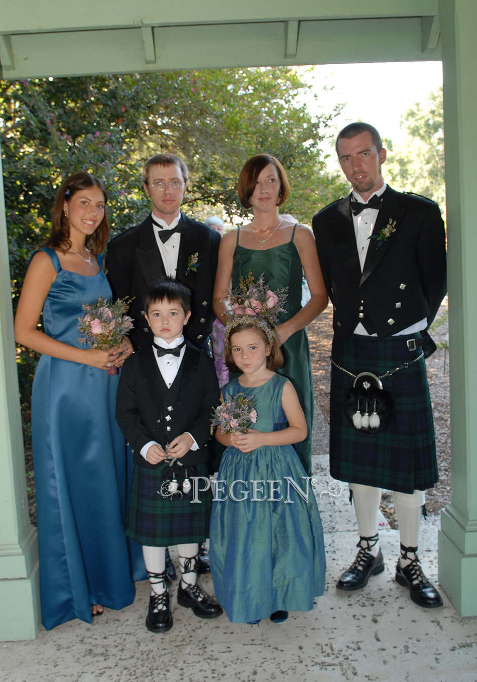 Scottish weddings hazel and plaid flower girl dress by Pegeen
