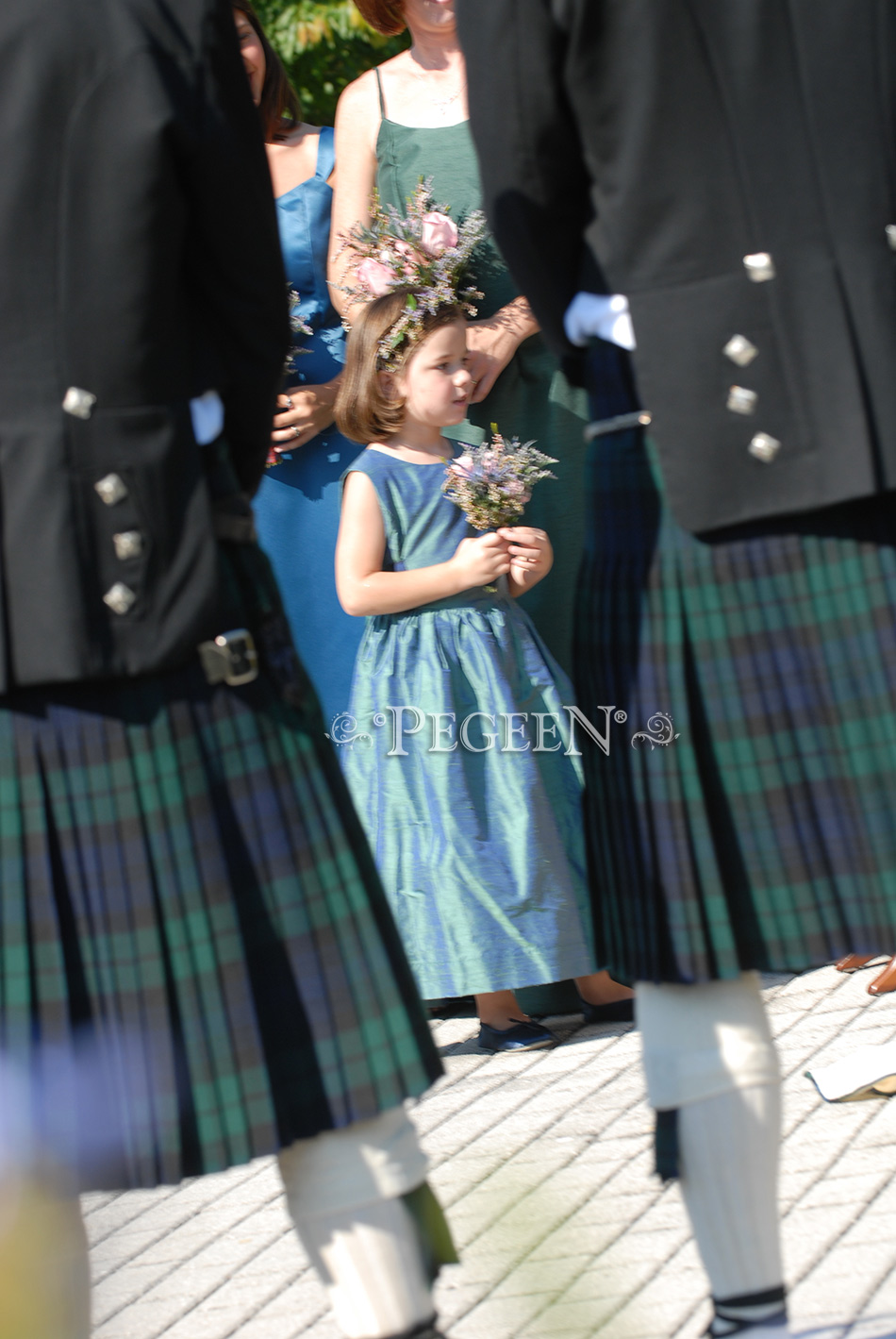 plaid flower girl dresses - Scottish themed weddings
