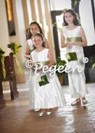Junior Bridesmaid Dress 320 (little girl front has 398)