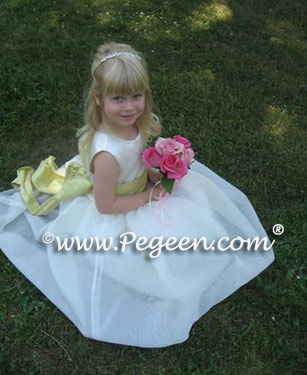 Yellow flower girl dresses or cotillion dresses