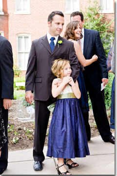 Navy, sage green and new ivory silk flower girl dress