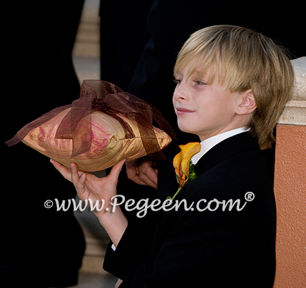 Grapefruit Ringbearer pillow