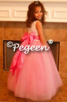 Gumdrop Pink Tulle - Couture Flower Girl Dress Style 407  by Pegeen