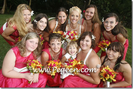 Matching flower girl dresses for Siri Bridesmaid