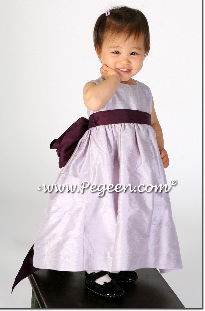Light orchid and eggplant toddler Easter dress