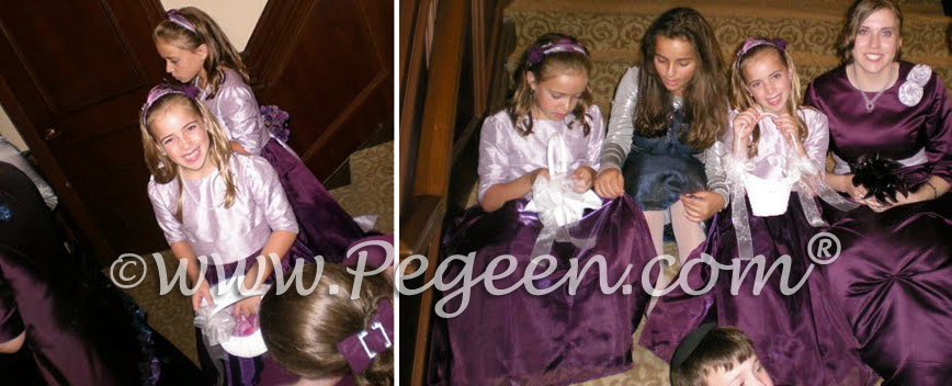 Custom Flower Girl Dress in 1000 Nights, Deep Amethyst and Lilac