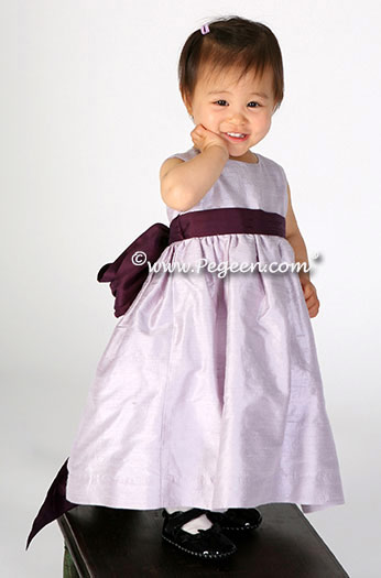 Light lilac or Orchid Flower Girl Dress for Toddler Style 345