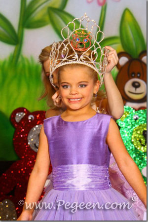 Purple Violet Tulle Flower girl dresses for pageant