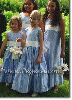 Wisteria and New Ivory flower girl dresses