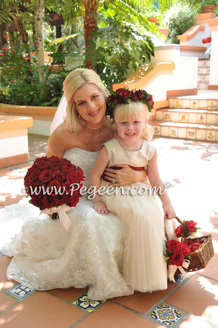 Red Theme Weddings & Flower Girl Dresses