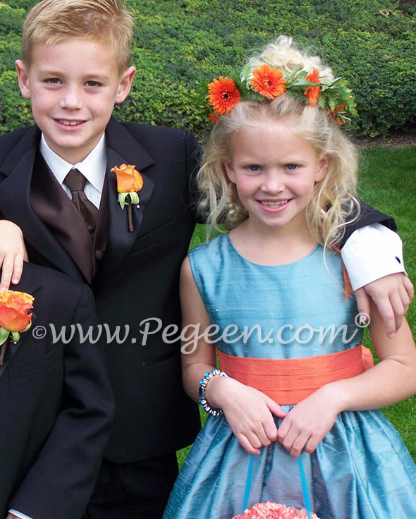 Pegeen Style 398 Adriatic watters and watters matching flower girl dresses