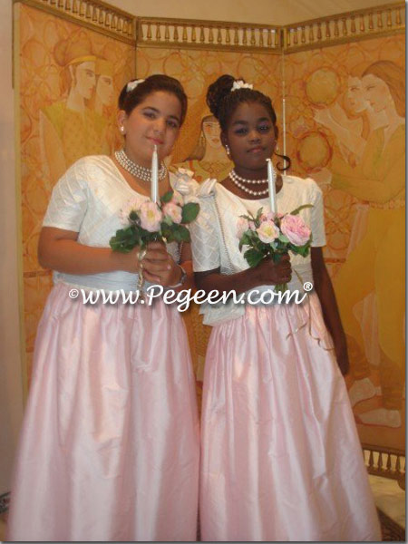 Plus size flower girl dress