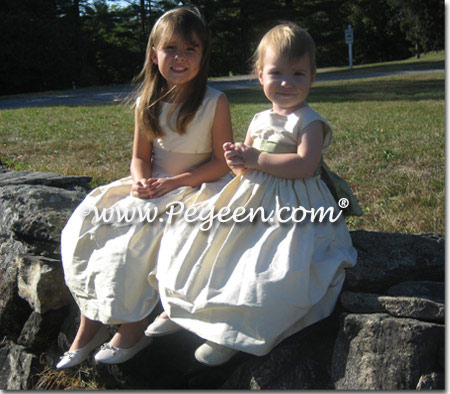buttercreme flower girl dresses