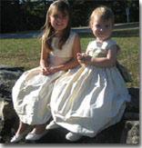 buttercreme and sage flower girl dresses