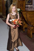 Latte Chestnut Brown Junior Bridesmaid Dress 320