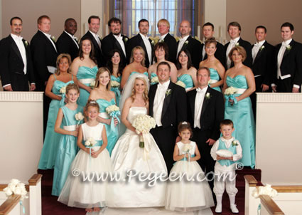 tiffany blue flower girl dresses of the year