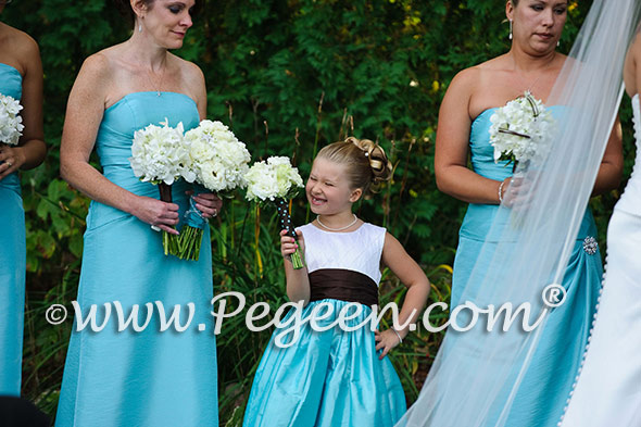 pond tiffany blue ring bearer and flower girl dresses