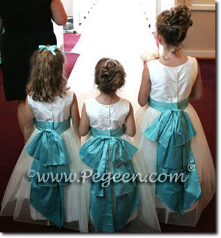 tiffany and ivory flower girl dresses