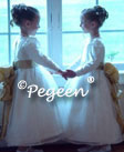 White and Ivory Flower Girl Dresses