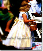 Sunflower yellow and ivory Antique White flower girl dresses