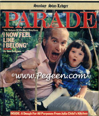 Richard Dreyfuss and daughter in our Pegeen Silk Madras Plaid Dress