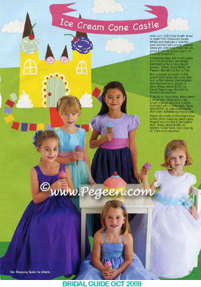 Tulle flower girl dress as seen in Bridal Guide