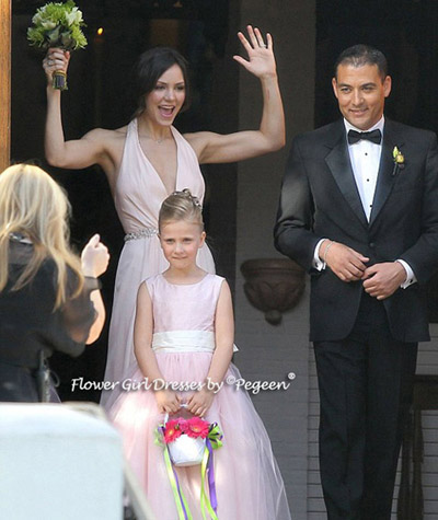 Katharine McPhee sister Adrienna's Wedding - the bride chose for the flower girls Pegeen Couture Style 402
