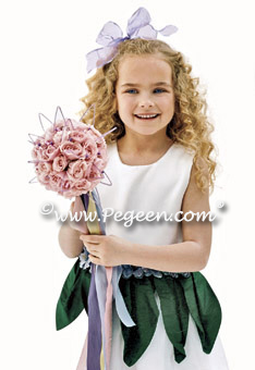 Forest Green Flower Girl Dress - Brides.com Style  #321