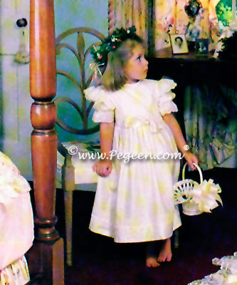 Ivory and lace flower girl magazine in Southern Bride