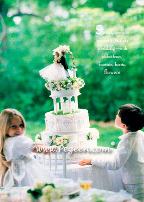 Boy's Silk Knicker Suit in Silk Flower Girl Dress in Modern Bride Magazine Style 255