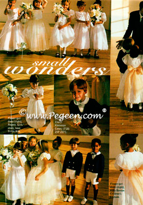 Boy's Navy and White Ring Bearer Suits in Modern Bride Magazine Eton Suit #275