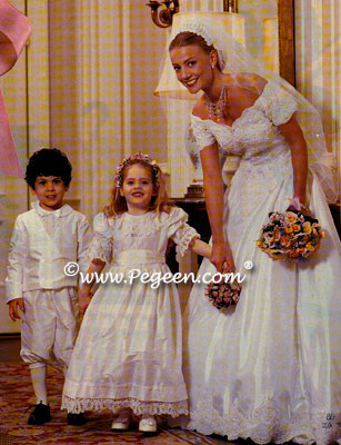 Silk flowergirl and pageboy in Elegant Bride Magazine