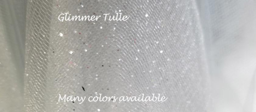 Glimmer tulle flower girl dress colors