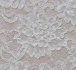 Ivory plain aloncon - shown on creme fabric