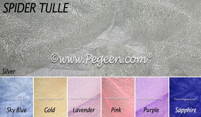 Spider tulle flower girl dress colors