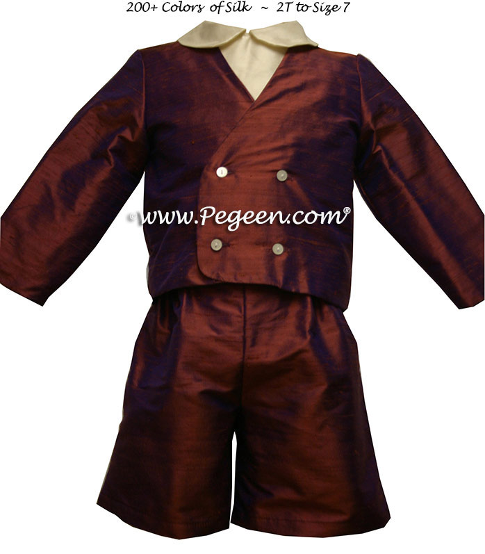 Ring Bearer Suit in Raisin (cooper) Style 212 Boys | Pegeen