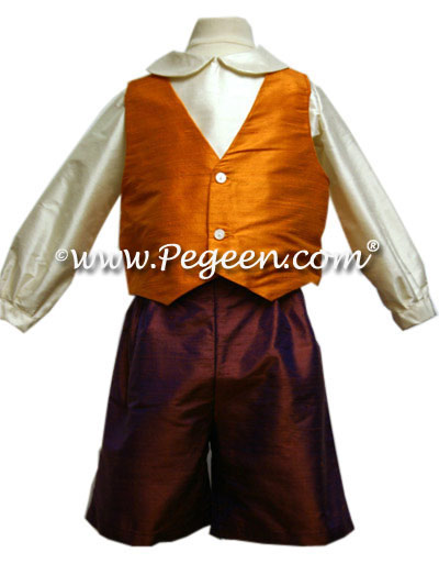 Ring Bearer Suit in Raisin (cooper) Orange Style 266 Boys | Pegeen