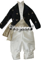 Boy's Ring Bearer Suit with Embroidered Jacket
