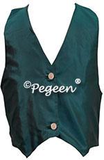 Denim Blue Boy's Silk Vest