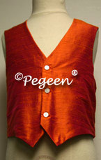Mango Orange Boy's Silk Vest