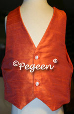 Orange Boy's Silk Vest