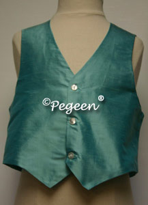 Tiffany Blue  Boy's Silk Vest