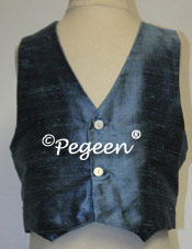 Arial Blue Boy's Silk Vest for Ann taylor