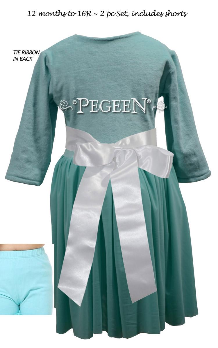 Classic 3/4 Sleeve Flower Girl Dress