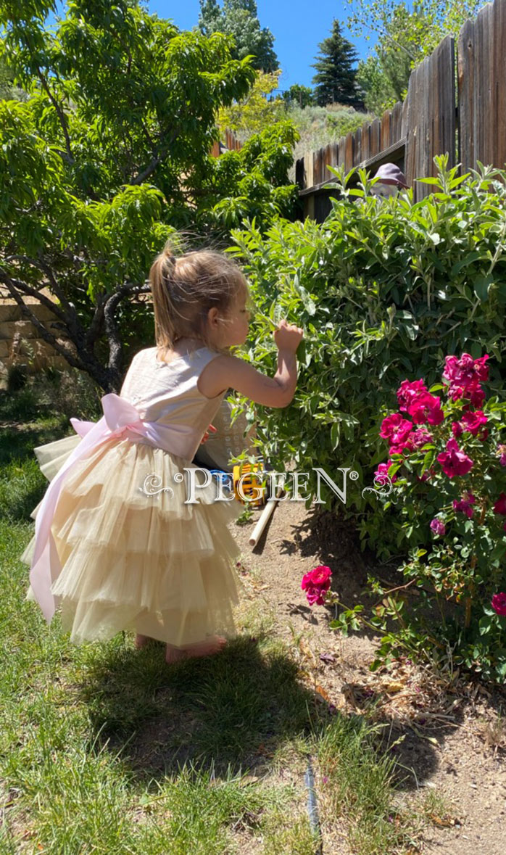 Silk budget flower girl dress Style 1101 Under $100