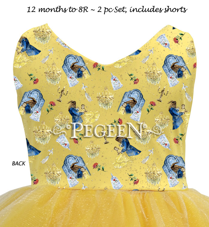 Beauty and the Beast Inspired princess dress for everyday