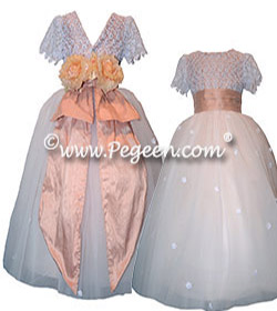 Couture flower girl dresses in Swarovski Crystals, lace and tulle